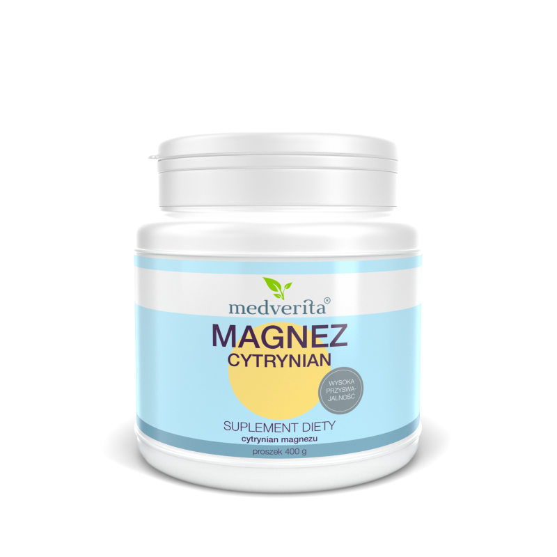 MAGNEZ cytrynian magnezu (400 g) Medverita