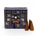 Kadzidełka NAG CHAMPA Satya w stożkach (12 sztuk BLACK box)
