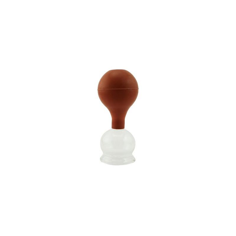 Bańka szklana z gruszką śr. 4 cm - do masażu