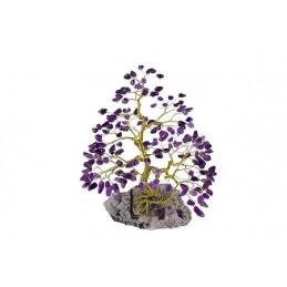 Drzewko szczęścia 200 kamieni Ametyst, wys. 24 cm prt