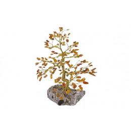 Drzewko szczęścia 200 kamieni Bursztyn, wys.24 cm