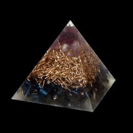 Piramida orgonitowa - granat i ametyst - 4,5 x 4,2 cm
