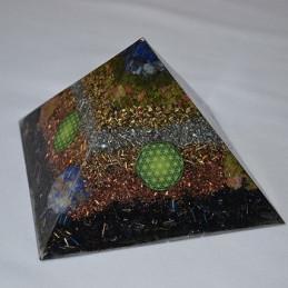 Piramida orgonitowa - Zdrowe ciało / Zdrowy duch -11,5 x 8 cm