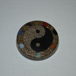 Amulet orgonitowy - Jin-Jang czakra - z rzemykiem