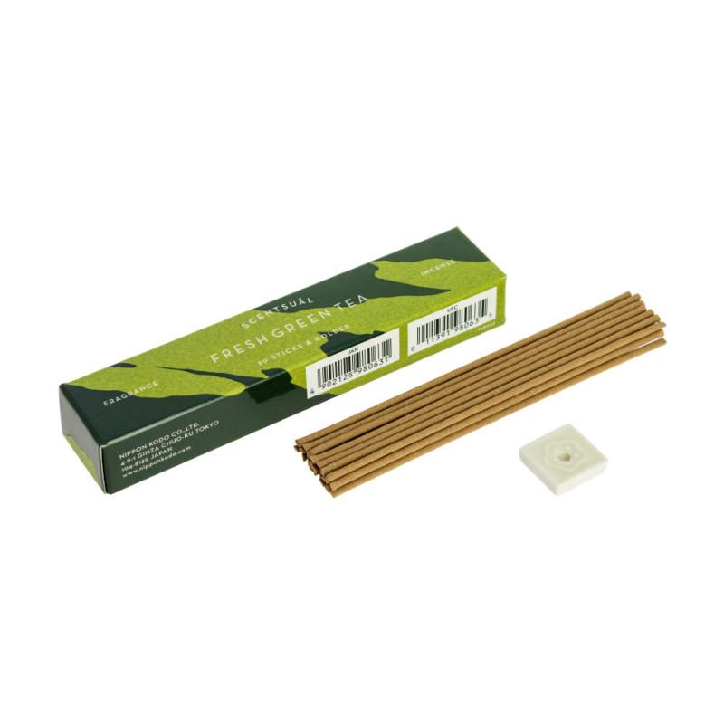 Naturalne kadzidełka japońskie SCENTSUAL - Zielona herbata - FRESH GREEN TEA