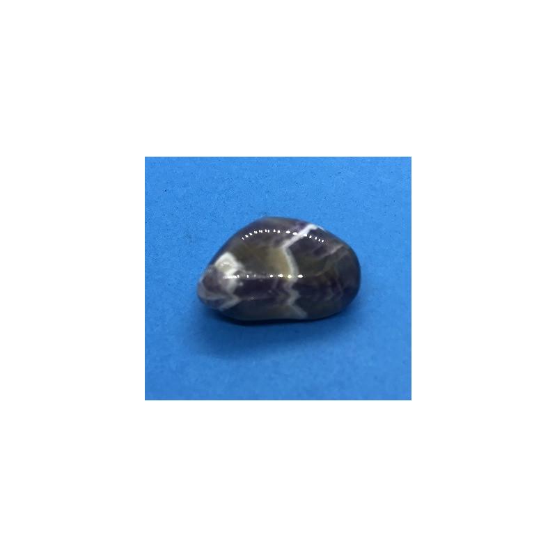 Ametyst szewron bębnowany 3 x 1,5 cm