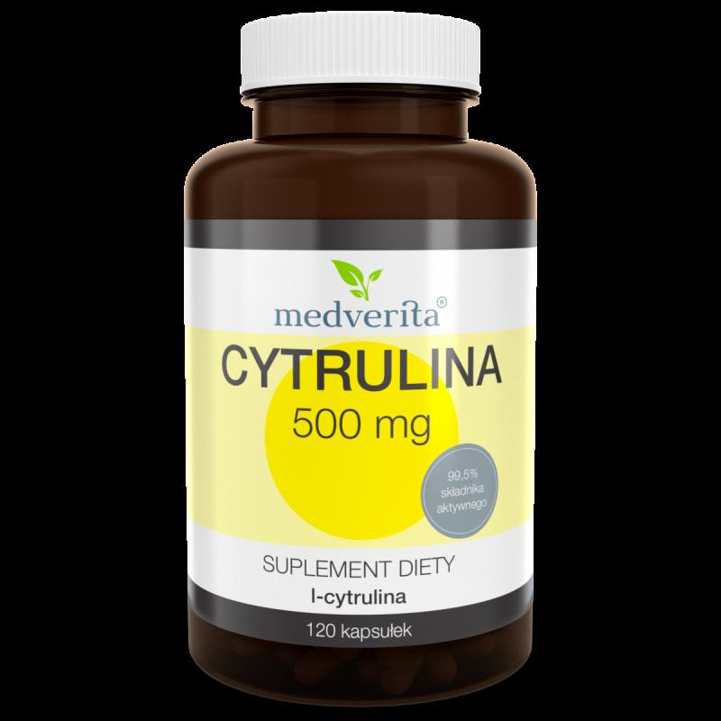 CYTRULINA 500 mg (120 kapsułek) Medverita (02.2021)
