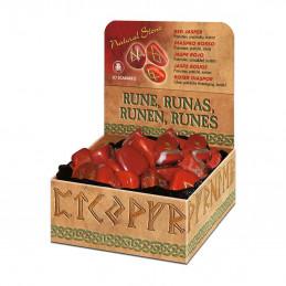 Runy w kamieniach - RED JASPER (jaspis czerwony)