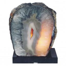 Lampa z Agatu na marmurowej podstawie (4,51 kg)