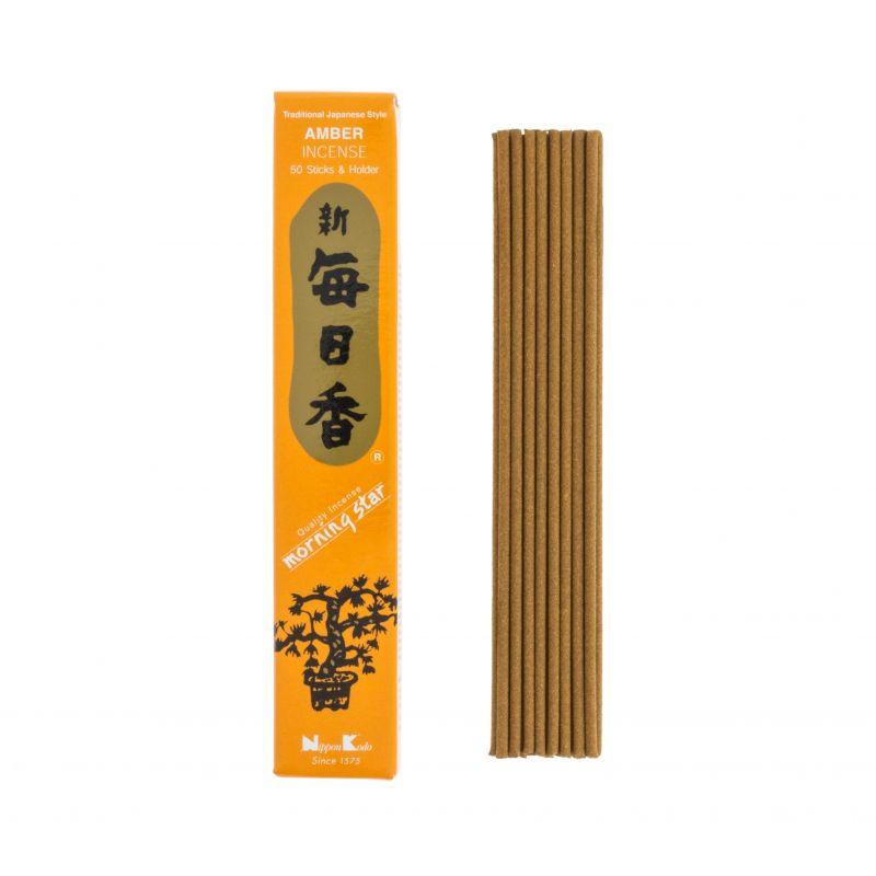 Japońskie kadzidełka MS AMBER - Bogaty zapach ambry