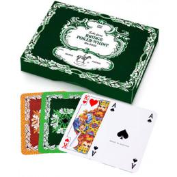 Liście dębu Bridge Poker Whist - karty do gry (dwie talie)