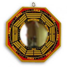 Lustro bagua złote wypukłe śr.16 cm