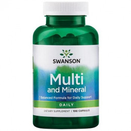 Daily Multi- Vitamin and Mineral 100 kaps. Swanson