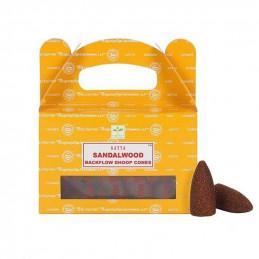 Kadzidełka stożkowe Backflow SANDALWOOD (z przepływem wstecznym)