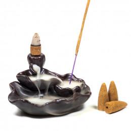 Kadzielniczka ceramiczna Backflow LOTUS POND z przepływem zwrotnym