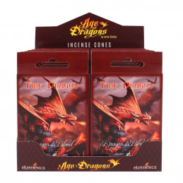 Kadzidła stożkowe FIRE DRAGON od Anne Stokes (15 szt)