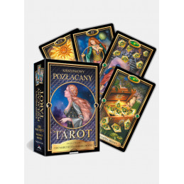 POZŁACANY TAROT kieszonkowy, Ciro Marchetti & Barbara Moore (książeczka + karty)