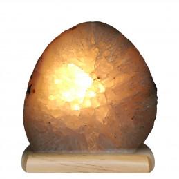 Lampa z Agatu na drewnianej podstawie (3,13 kg)