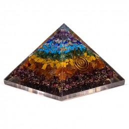 Piramida orgonitowa 7 czakr (7,5 x 7,5 x 6 cm)