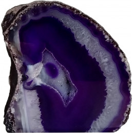 Agat fioletowy - geoda stojąca (0,525 kg)