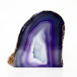Agat fioletowy - geoda stojąca (0,496 kg)