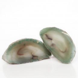 Agat zielony - przecięty kamień (0,459 kg)