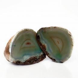 Agat zielony - przecięty kamień (0,543 kg)
