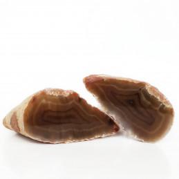 Agat brązowy - przecięty kamień (0,593 kg)