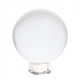 Kryształowa kula (6 cm) na szklanej podstawie