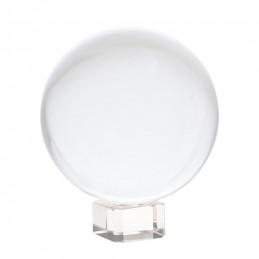 Kryształowa kula (8 cm) na szklanej podstawie