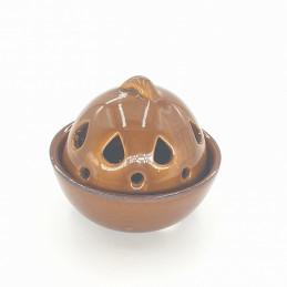 Kadzielniczka ceramiczna brązowa do klasycznych kadzidełek stożkowych