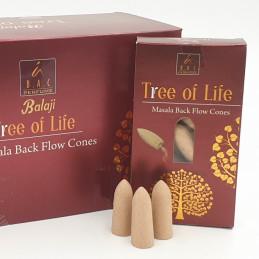 Kadzidełka stożkowe TREE OF LIVE Balaji Malasa (kadzidełka z przepływem wstecznym, zwrotnym)