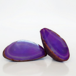 Agat fioletowy - para kamieni (0,455 kg)
