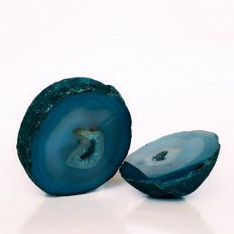 Agat niebieski - para kamieni (0,499 kg)