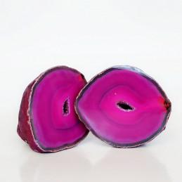 Agat różowy - para kamieni (0,649 kg)