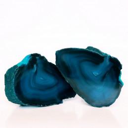 Agat niebieski - para kamieni (0,680 kg)
