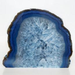 Agat niebieski - jakość A - zgład stojący (2,45 kg)