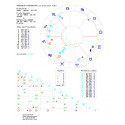 Horoskop kontaktowy - wykres drukowany