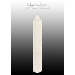 Świeca z wosku - biała 10 cm x 1,8 cm