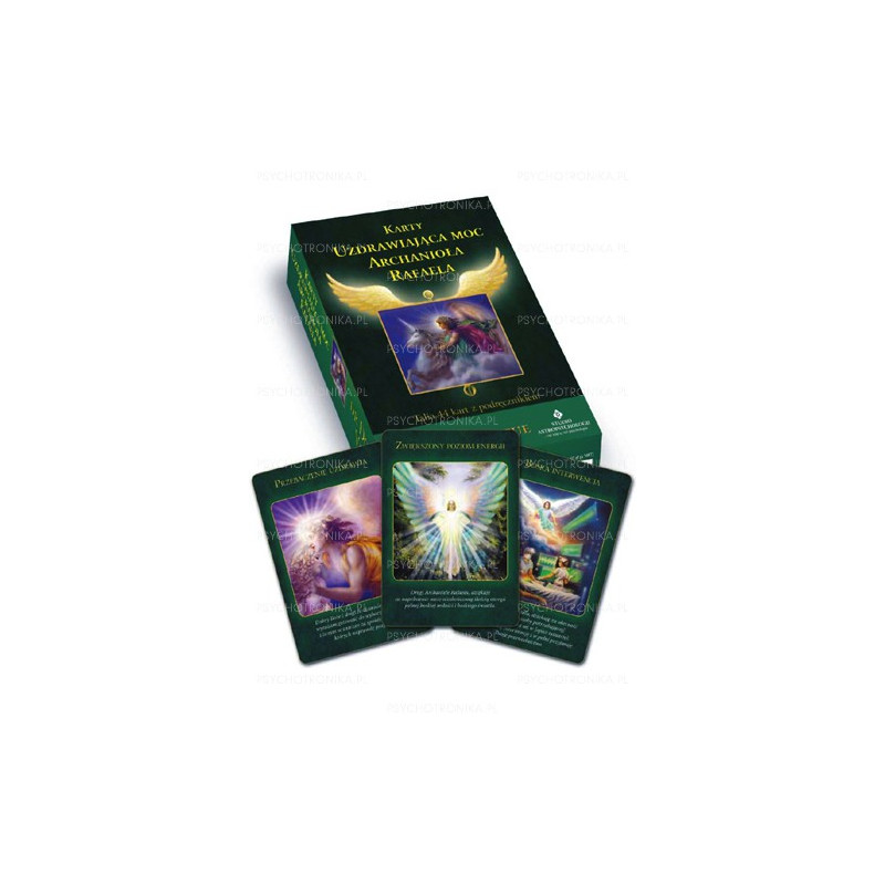 Karty uzdrawiająca moc archanioła Rafaela + książeczka (Instrukcja)