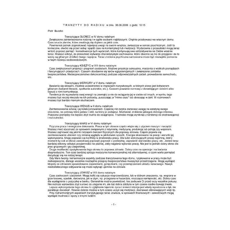 Horoskop tranzytowy-druk