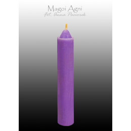 Świeca z wosku - fioletowa 10 x 1,8 cm