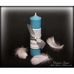 Świeca Anioła Stróża - błękitna